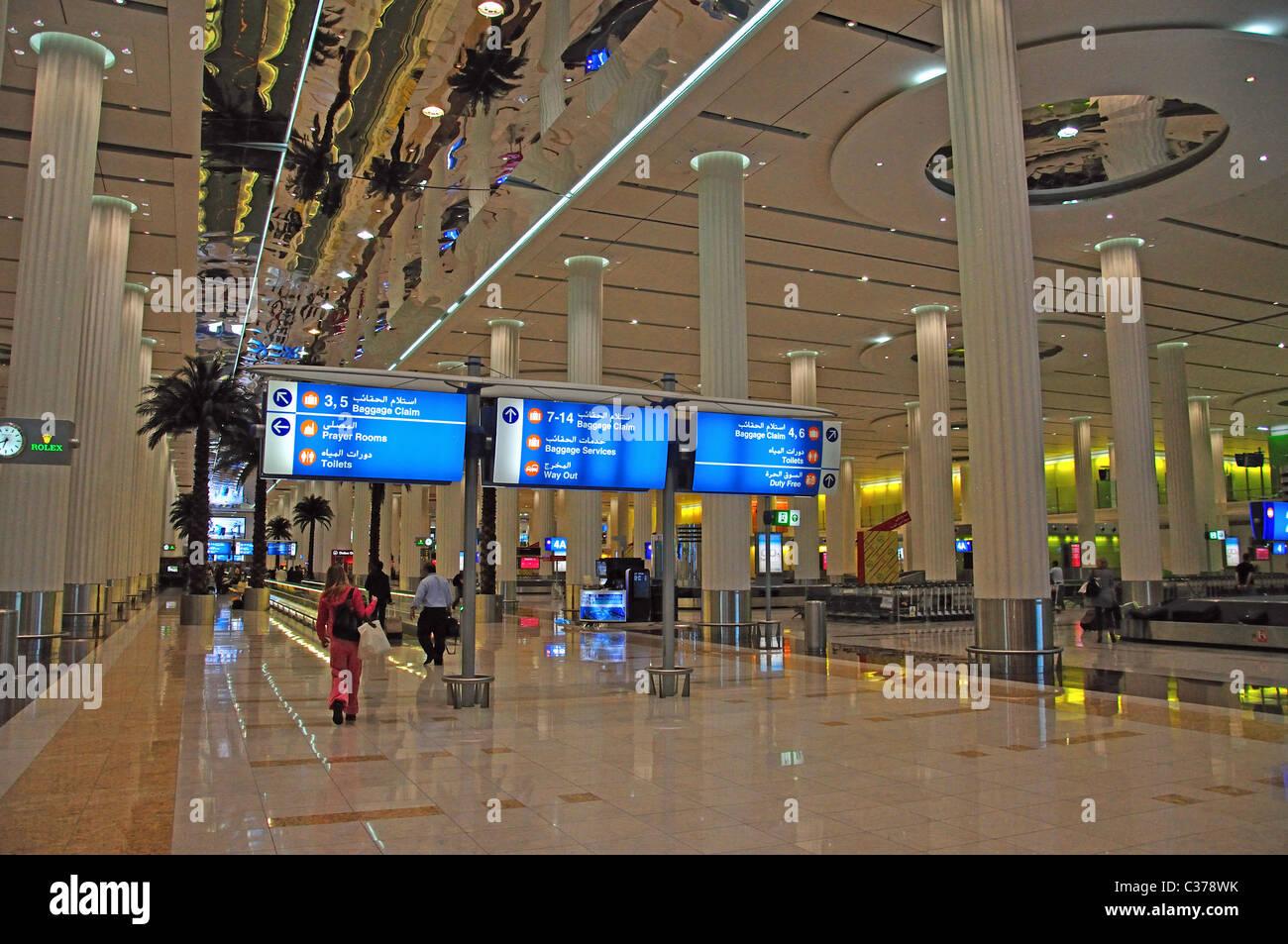 Arrivals to Dubai International Airport (DXB): 2018-10-17