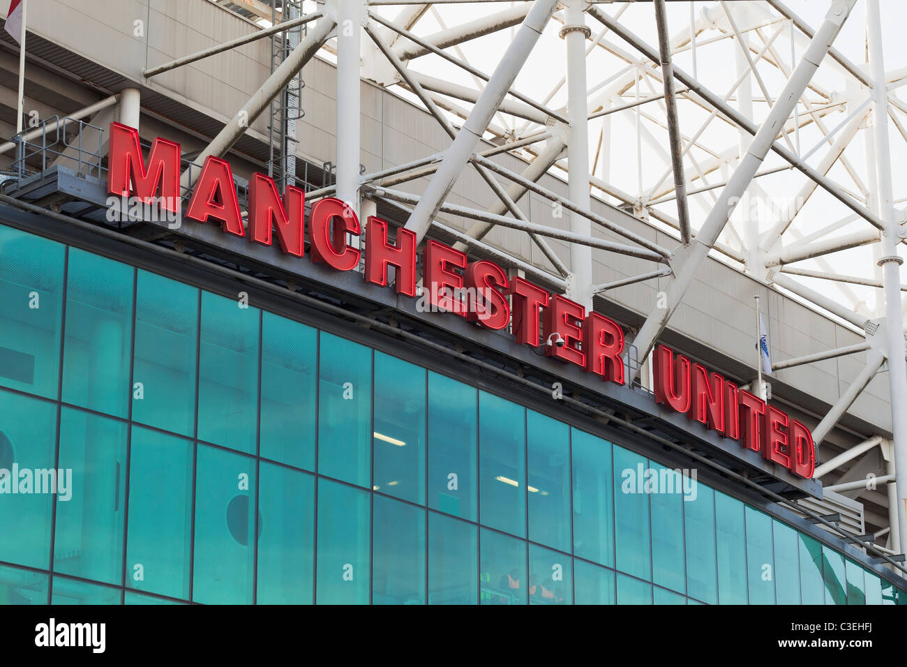 Outside Old Trafford football stadium, Manchester, England Stock Photo