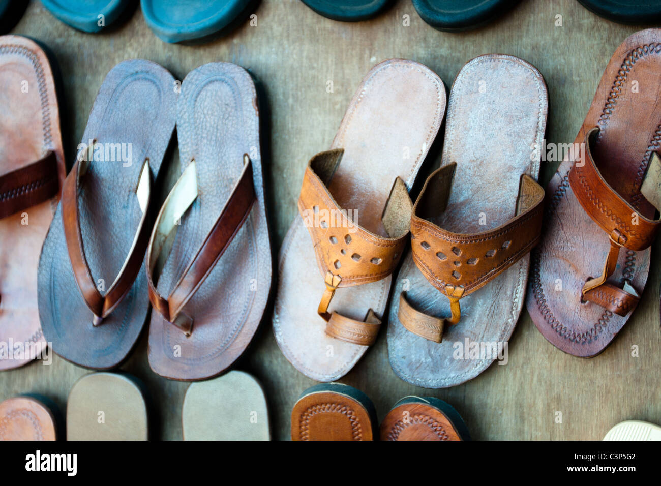 Indian slippers Stock Foto