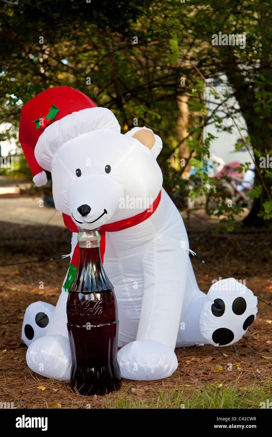 Coca Cola Polar Bear Inflatable Christmas Holiday