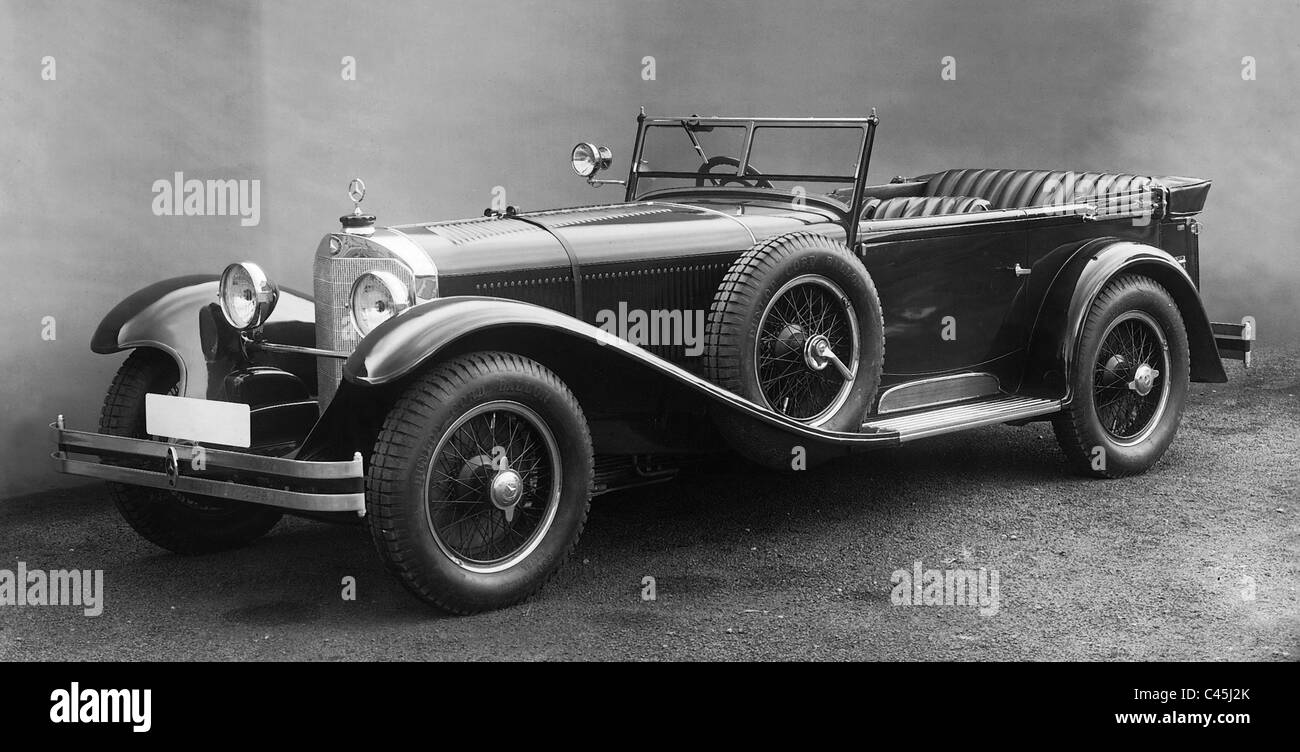 Mercedes benz sports car type 39 s 39 1927 stock photo for Types of mercedes benz cars