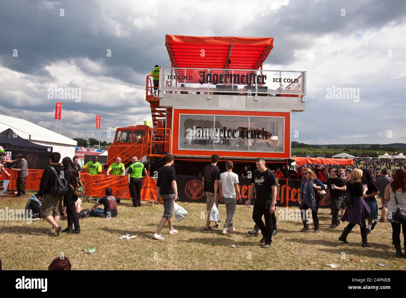 Bien-aimé Jagermeister truck bar,Download Festival, Donington Park  BH36