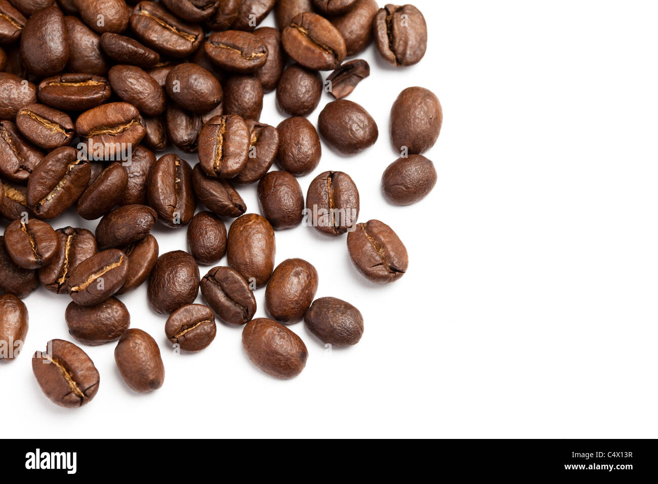 coffee bean with white background stock photo royalty