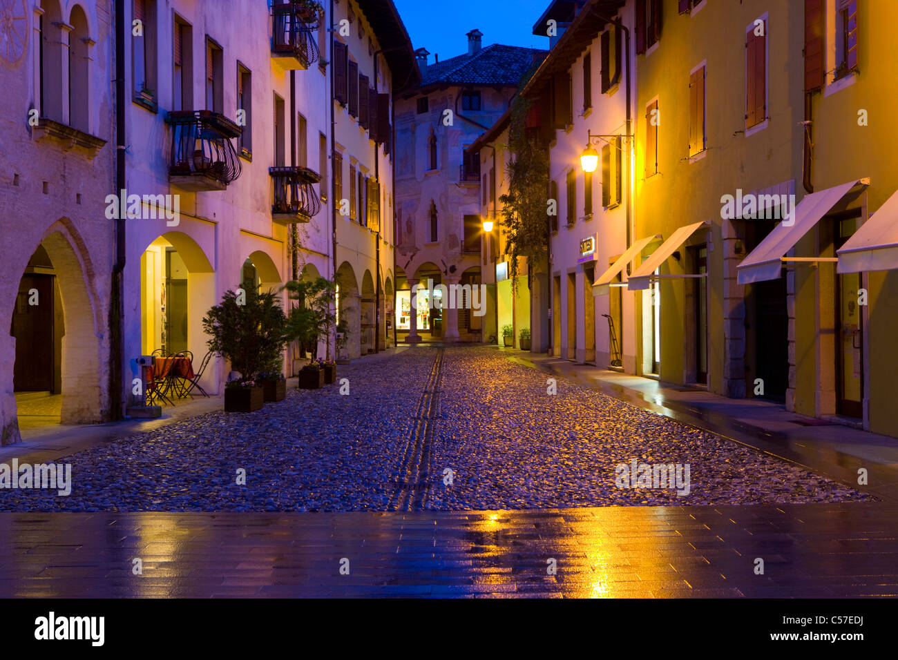 spilimbergo italy europe friuli venezia giulia town city dusk stock photo royalty free. Black Bedroom Furniture Sets. Home Design Ideas