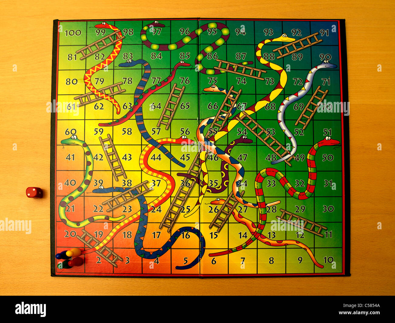 Snakes and Ladders Board Game Stock Photo: 37673674 - Alamy