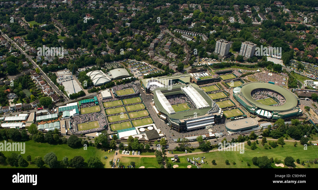 Aerial View Of The All England Lawn Tennis Club During