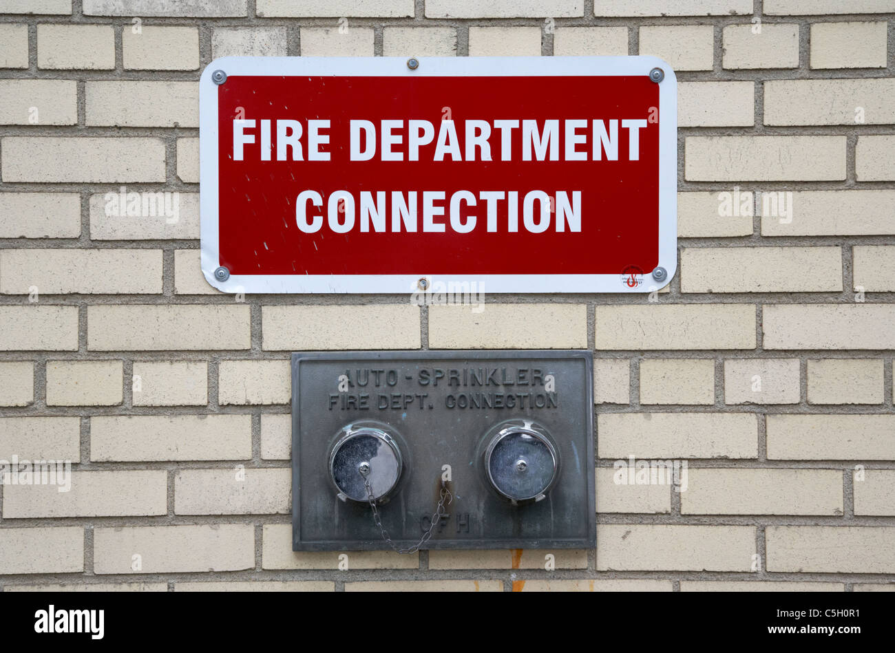 Fire Department Connection On A Building For Auto ...
