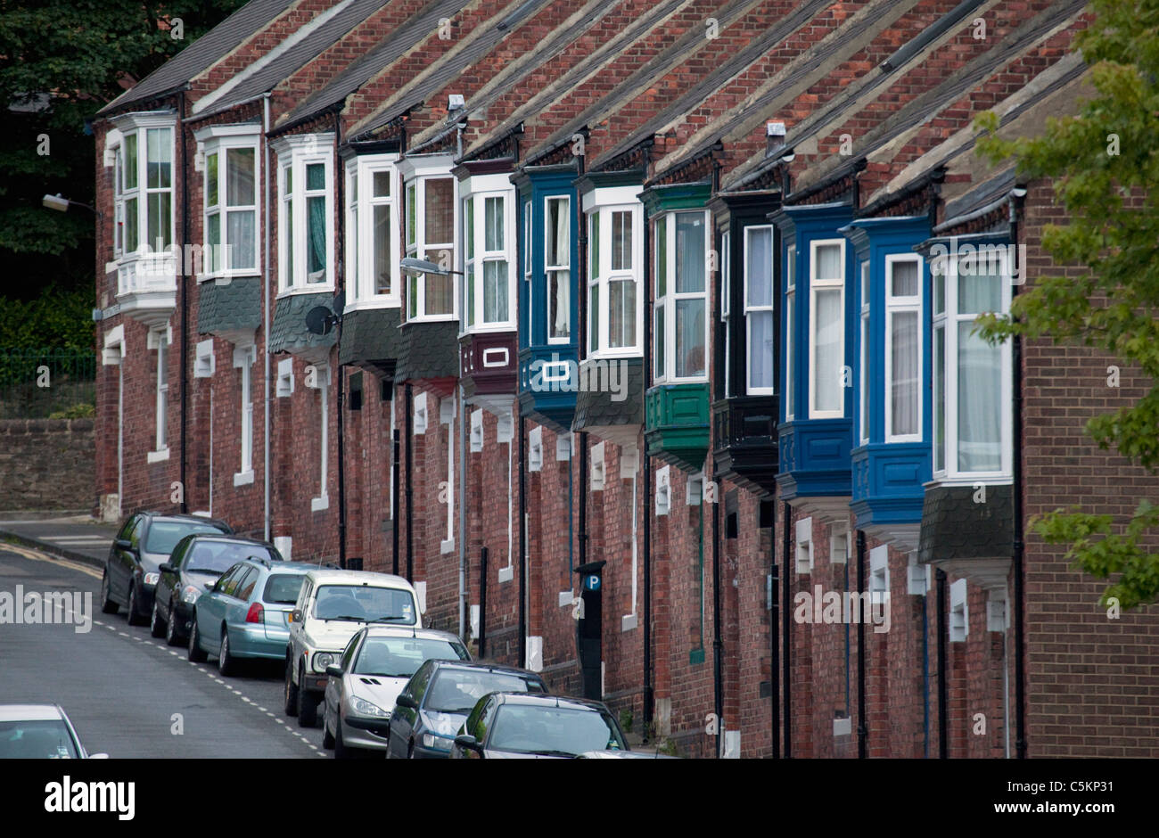 A Typical Row Of English Terraced Houses Durham County