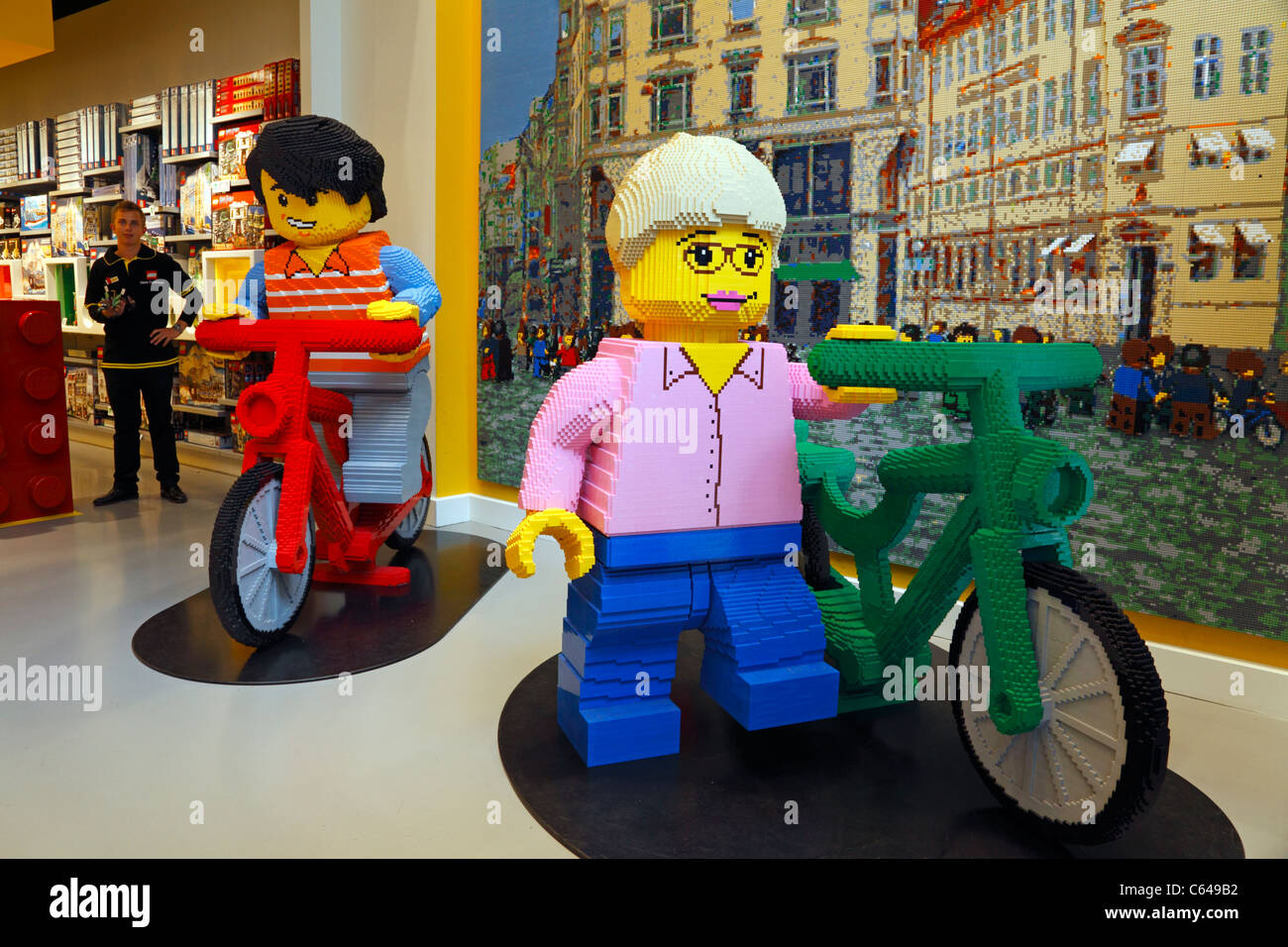 Large Lego figures in the Lego Store on the shopping and pedestrian Stock Photo, Royalty Free ...