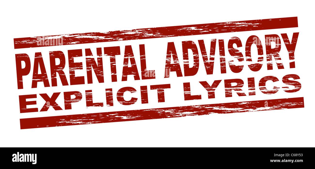 Parental advisory explicit lyrics
