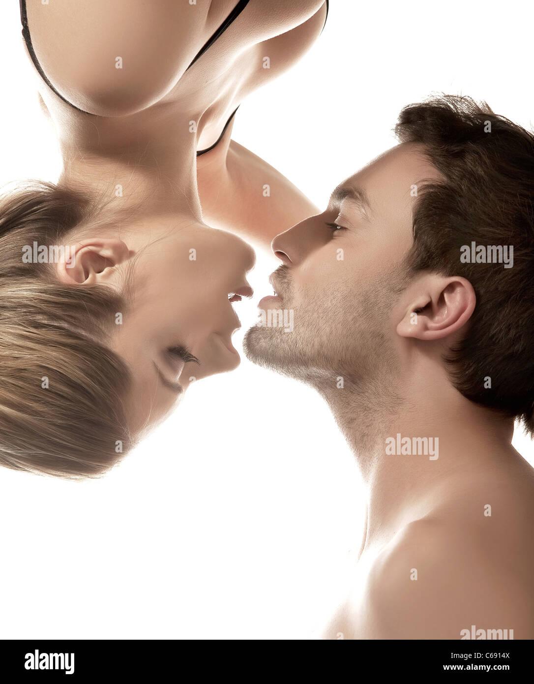 Sensual photo of happy couple Stock Foto