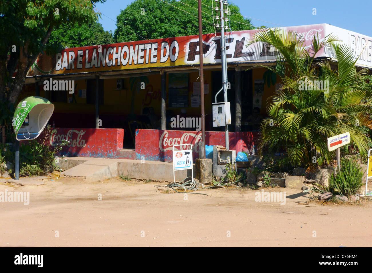 Local Bar, Povoado de São Jorge, Goiás, Brazil, South America Stock Photo