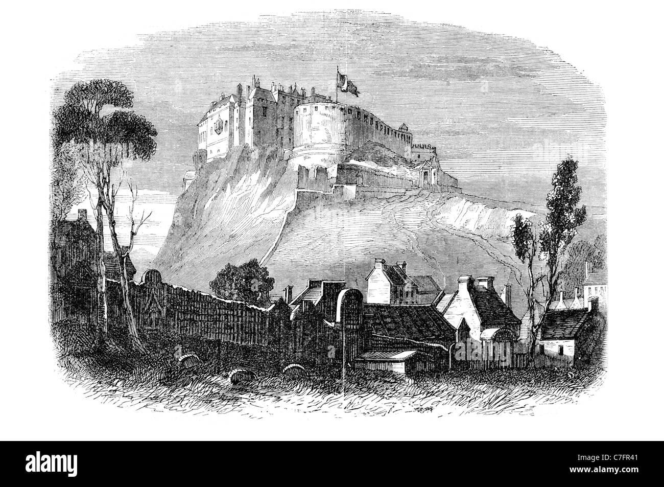Edinburgh castle fortress scotland volcanic rock military for Scotland military tattoo