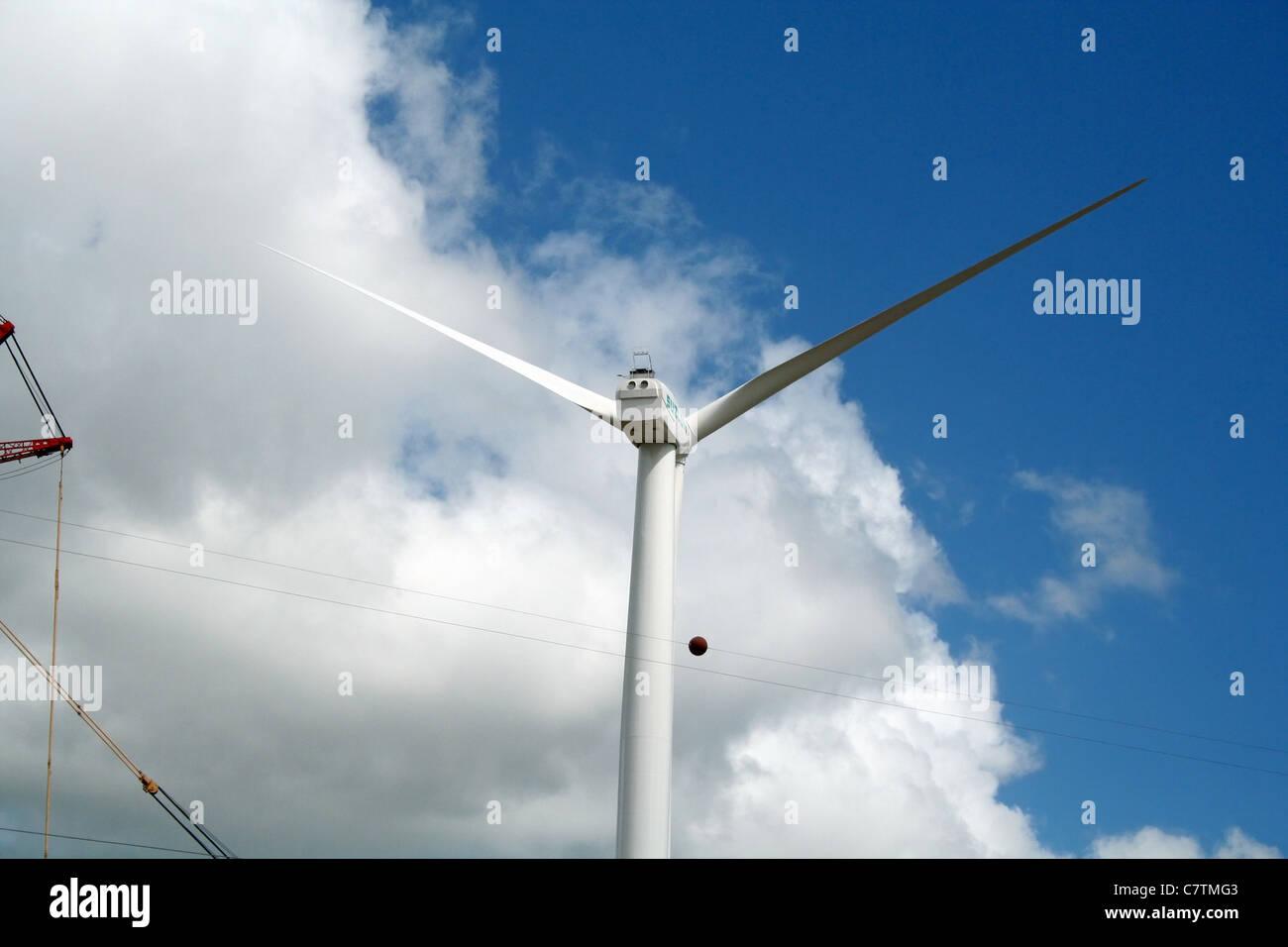Eolic Energy, Paraiba, Brazil Stock Photo