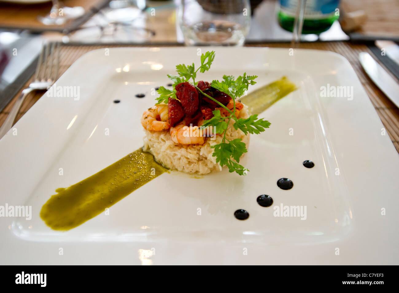 Food presentation in restaurant Stock Photo, Royalty Free ...