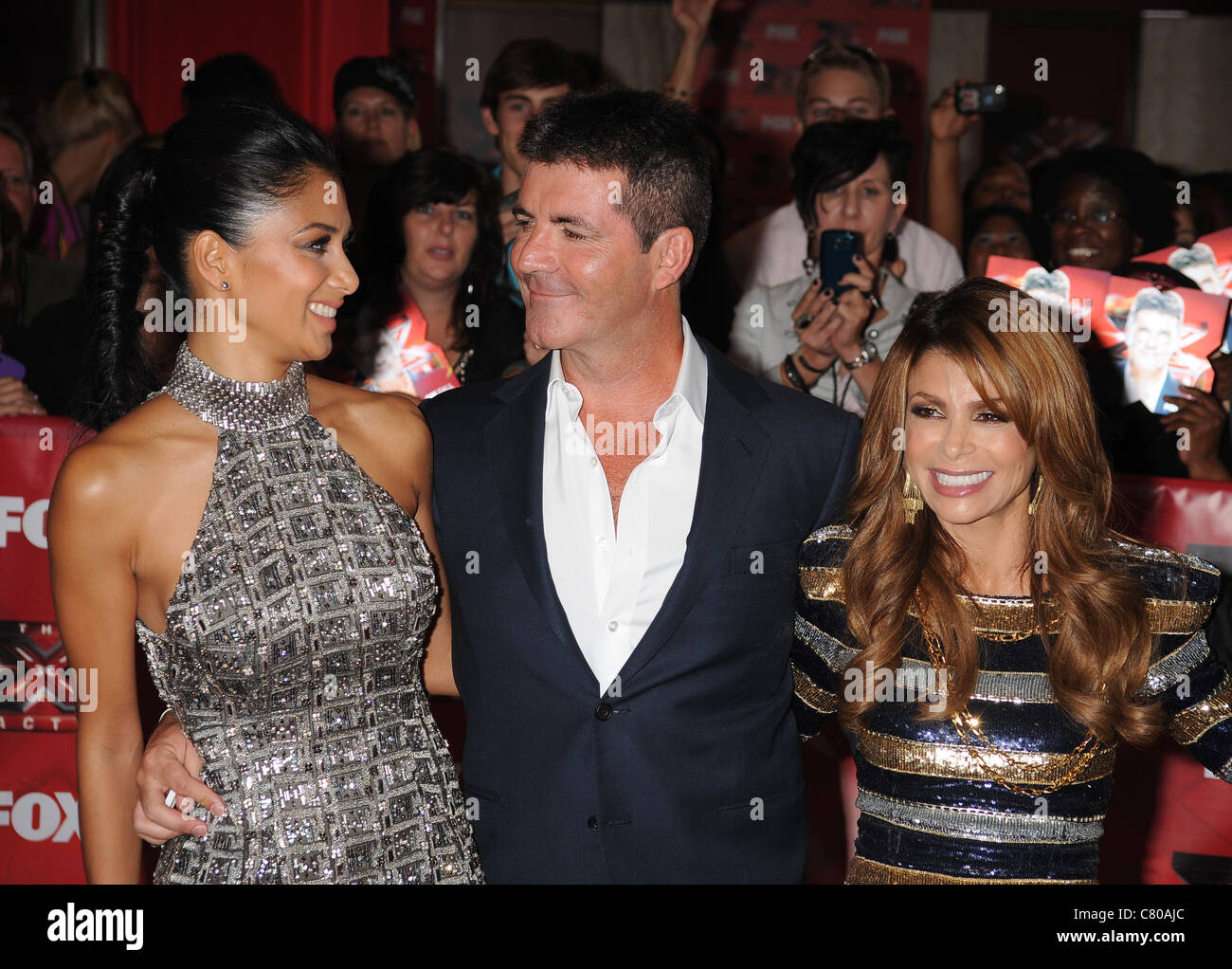 THE X FACTOR (US) Simon Cowell judges singer Paula Abdul ...