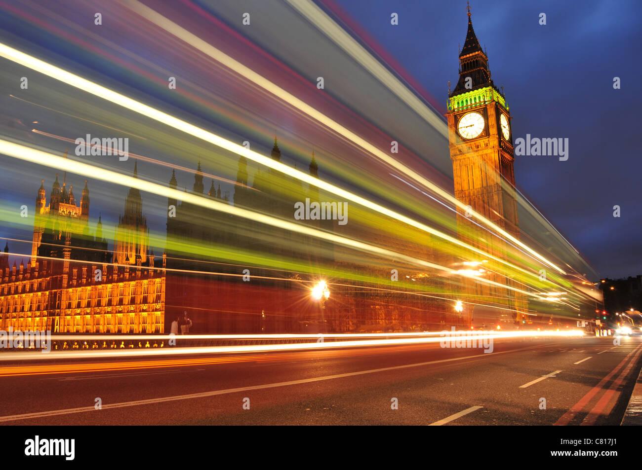 London by night Stock Foto