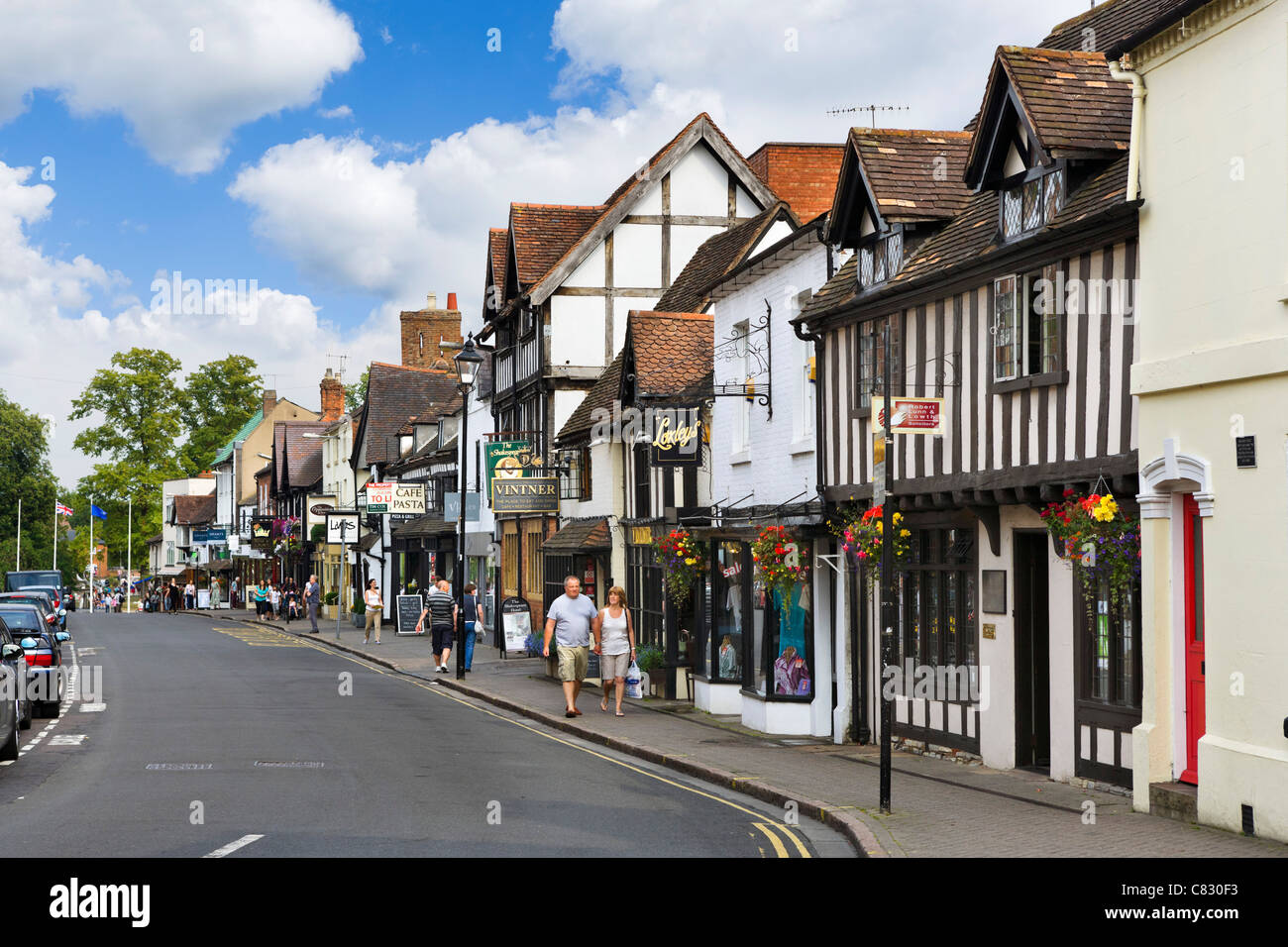 shops on sheep street in the historic centre stratford upon avon stock photo 39404263 alamy. Black Bedroom Furniture Sets. Home Design Ideas