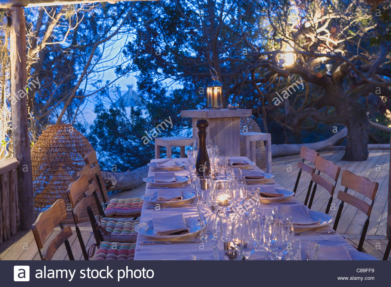 beach restaurant domaine de murtoli stock photo royalty. Black Bedroom Furniture Sets. Home Design Ideas