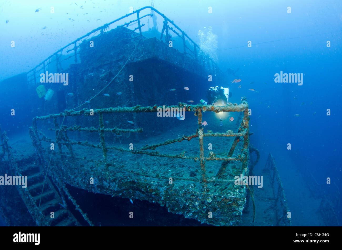 Wreck of haven amoco milford haven tanker arenzano liguria italy stock photo royalty free - Tech dive arenzano ...