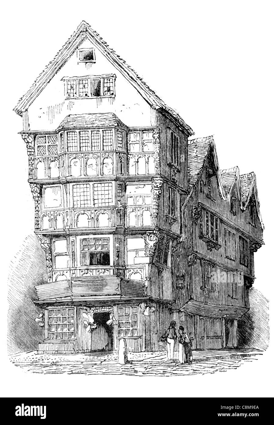 Street Architecture 16th Century half timber timbered home ...