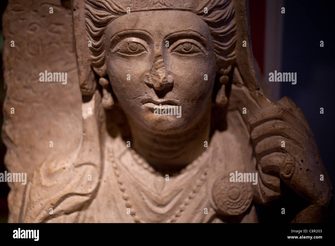 Second Century AD Female Funerary Bust From Palmyra Syria