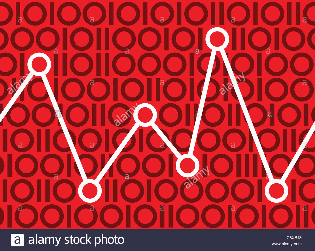 Graph in binary pattern Stock Foto