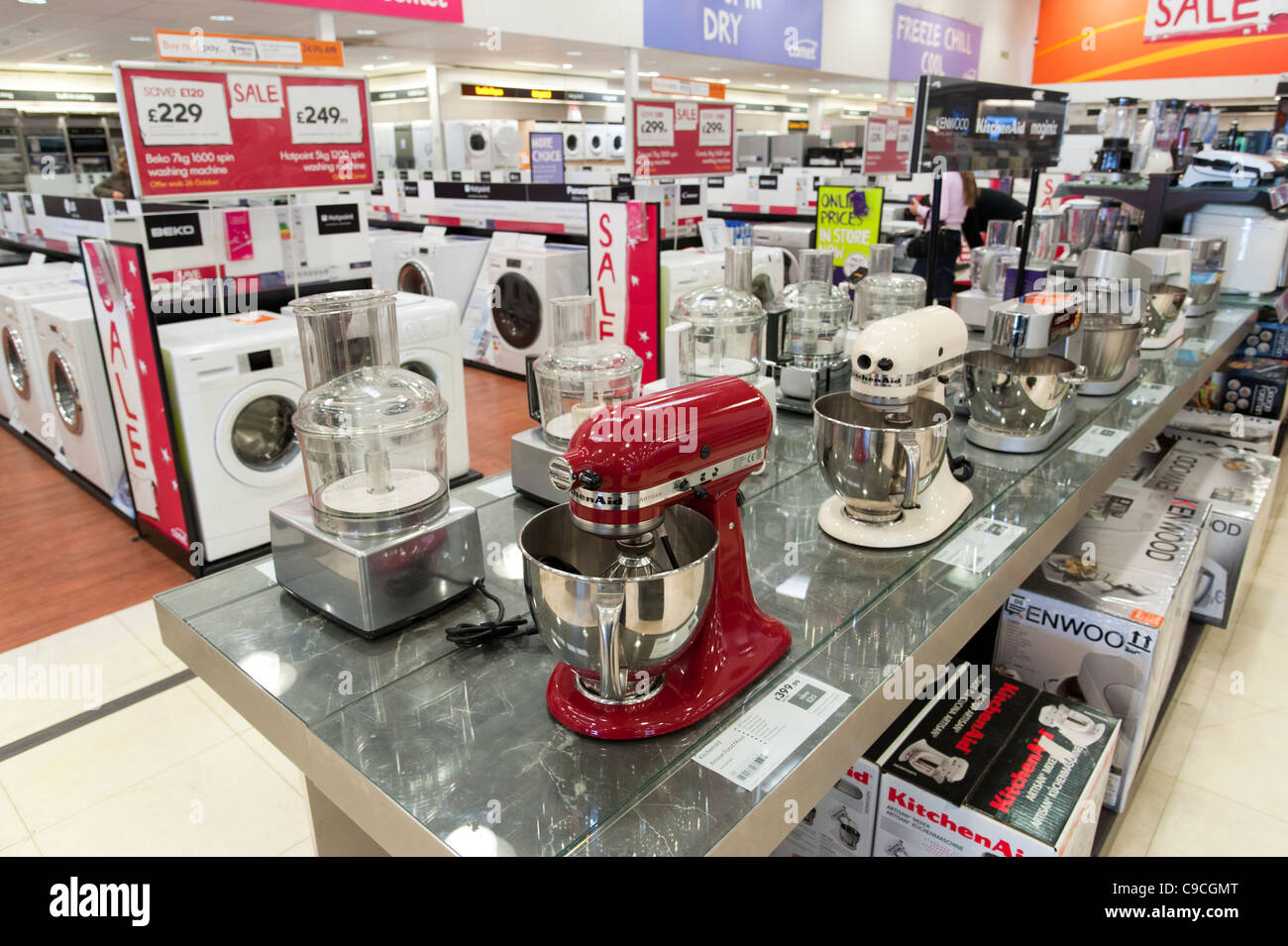 Electrical Kitchen Appliances In Comet Store, London