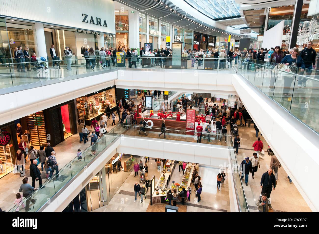 Westfield Stratford City shopping mall, London, England ...