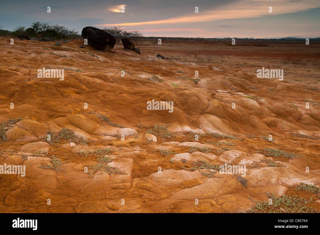 Desert landscape in Sarigua national park, Herrera province, Republic of Panama. Stock Foto