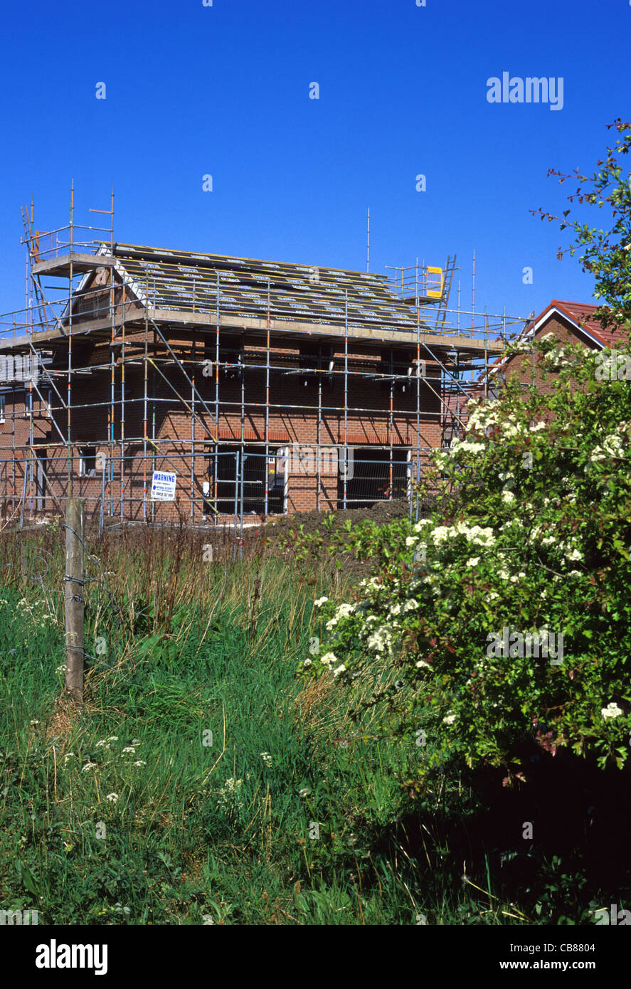 Unfinished new house on building site near leeds yorkshire for House building website