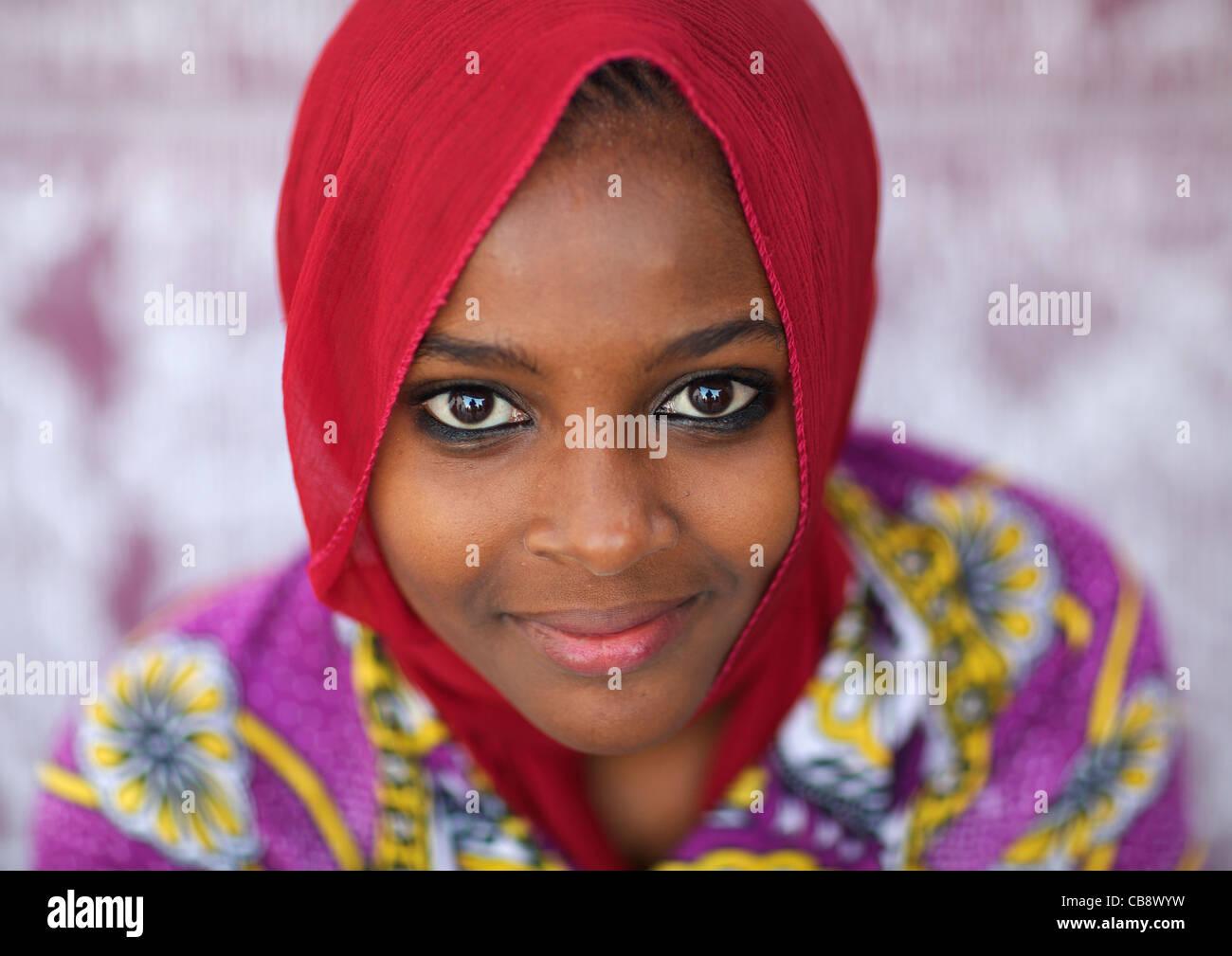 The beautiful girl in kenya