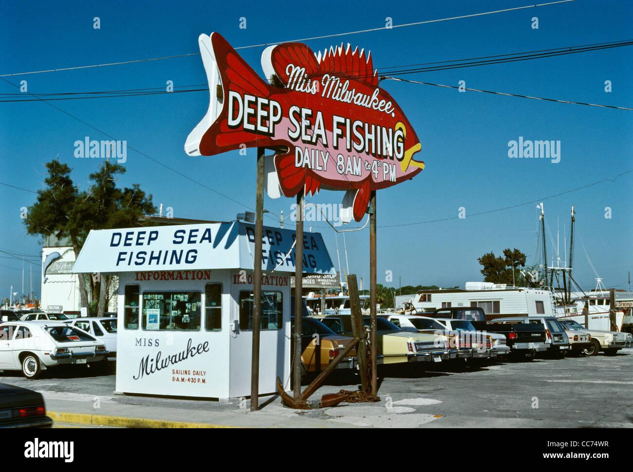 Old florida miss milwaukee deep sea fishing sign tarpon for Tarpon springs fishing