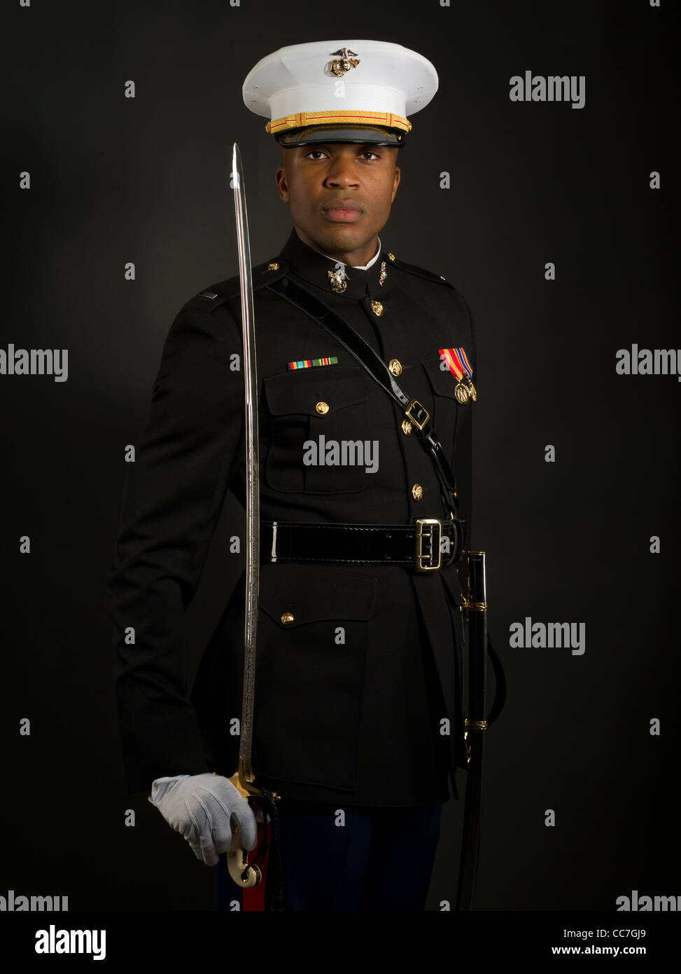 united states marine corps officer in blue dress quota