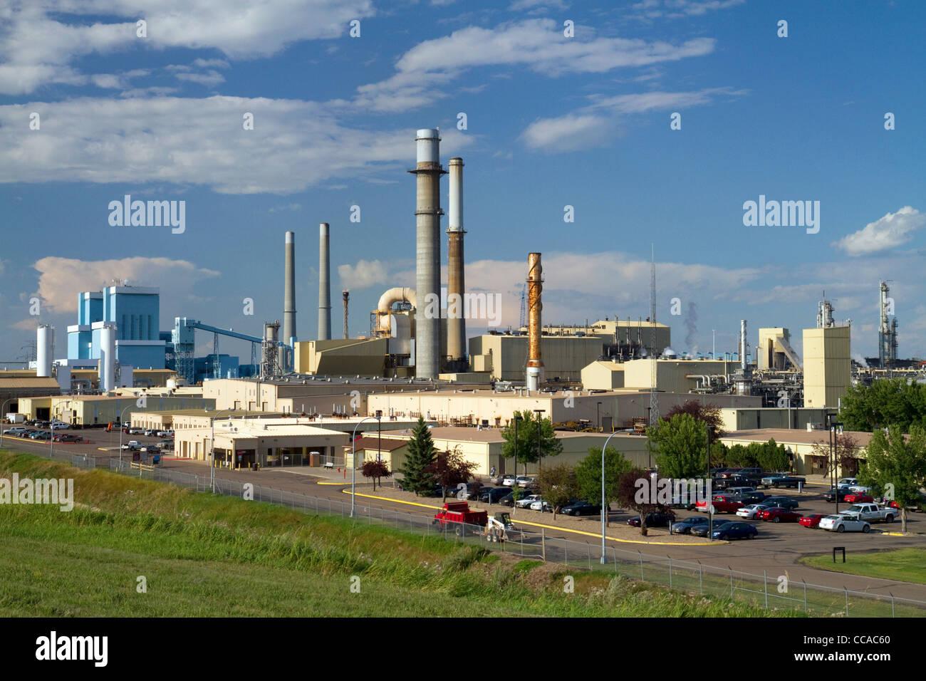 Great Plains Synfuels coal gasification plant near Beulah, North Dakota, USA. Stock Photo