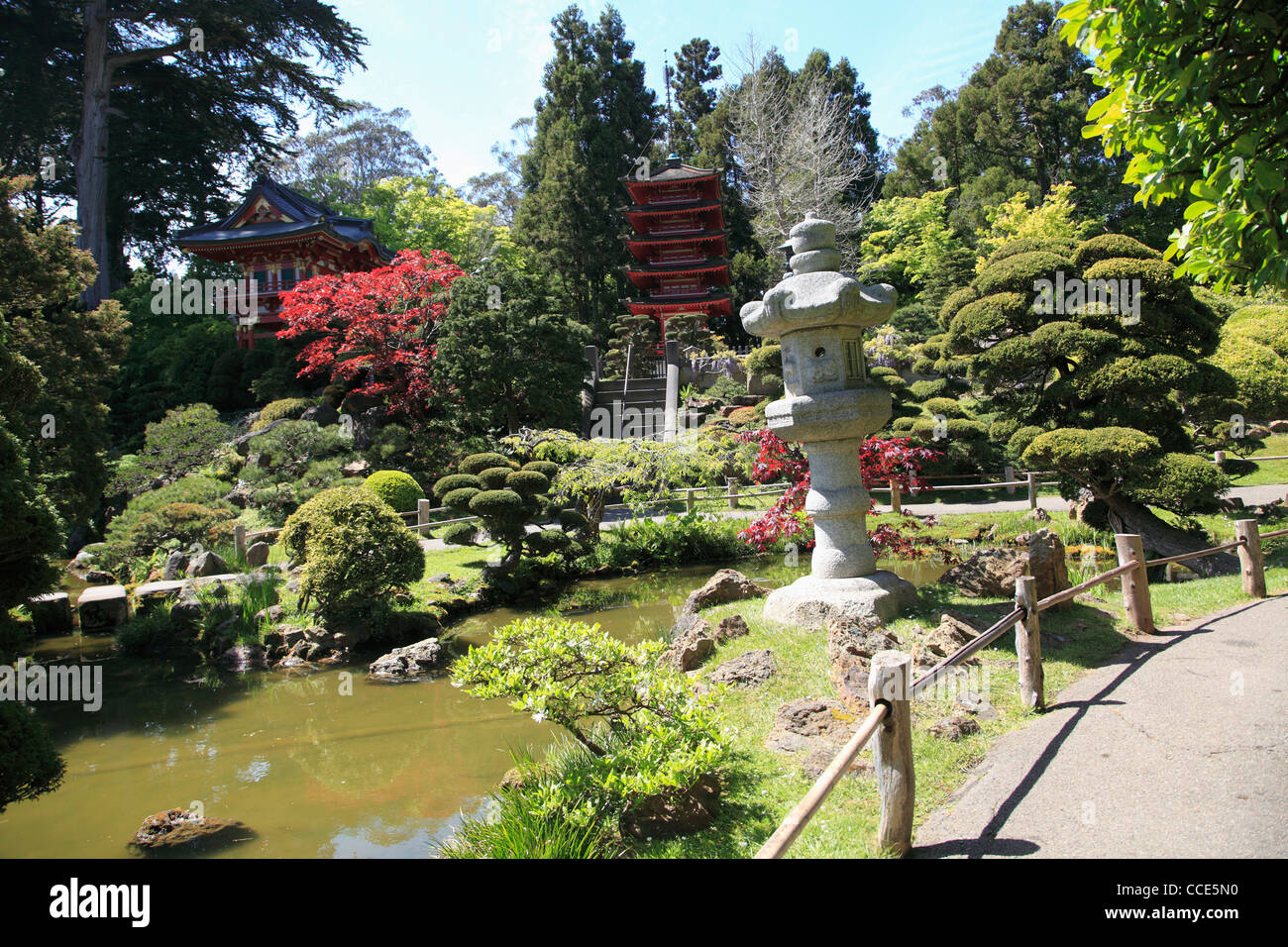 Japanese Tea Garden Golden Gate Park San Francisco California USA Stock Photo Royalty Free ...