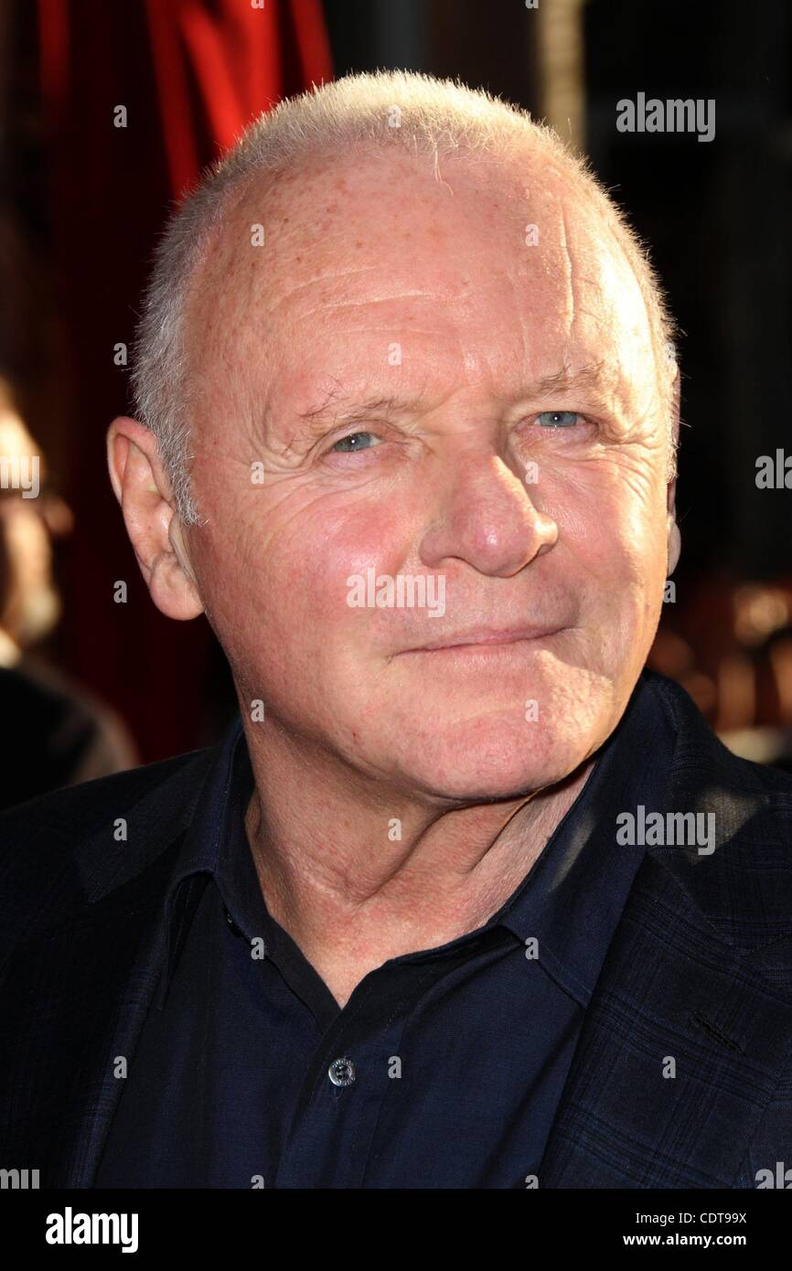 May 02, 2011 - Los Angeles, California, USA - Actor SIR ANTHONY HOPKINS at the 'Thor' Los Angeles Premiere held Stock Photo