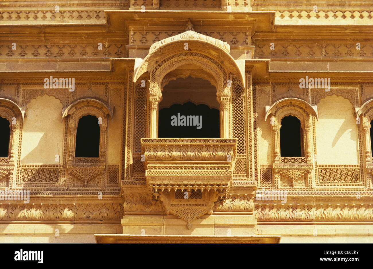 balcony window of patwon ki haveli jaisalmer rajasthan