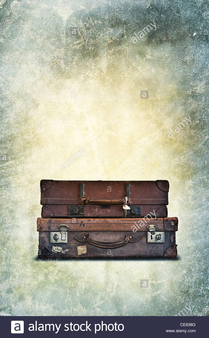 vintage luggage Stock Foto