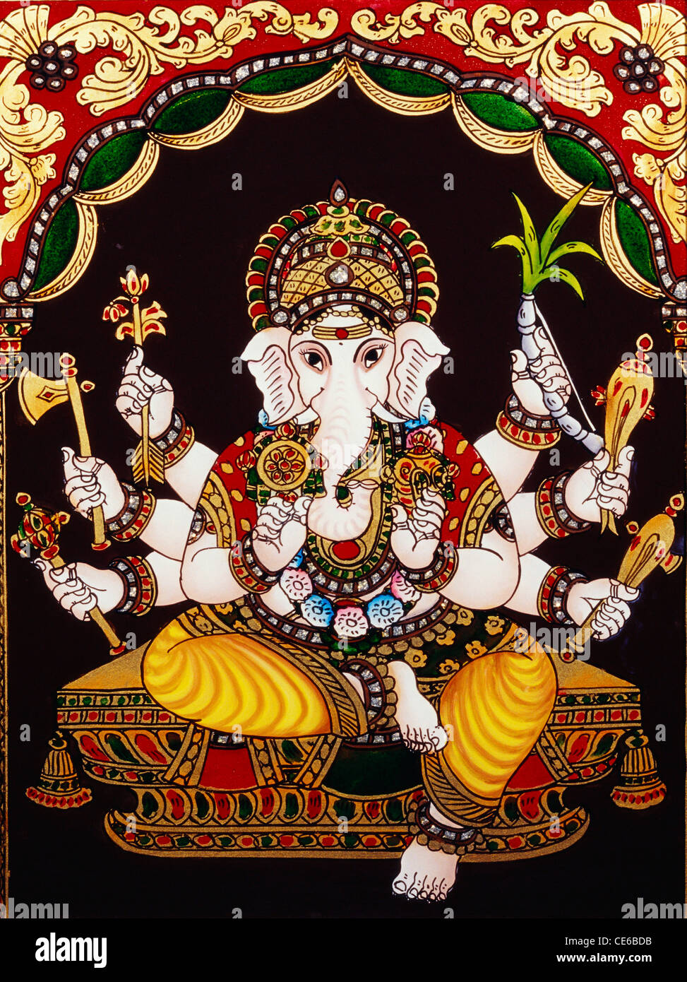 Lord Ganesha Pictures For Glass Painting