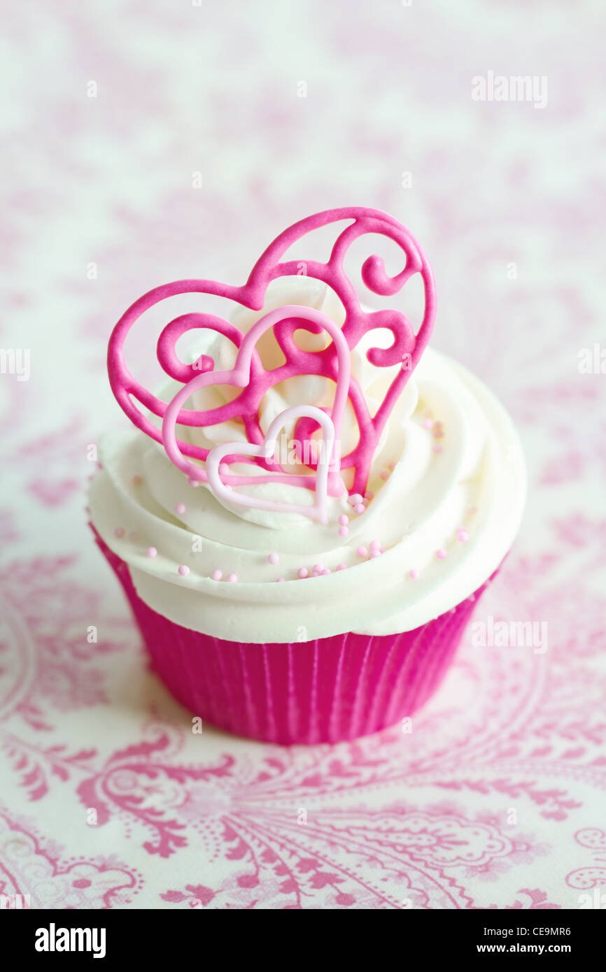 Valentine cupcake Stock Foto