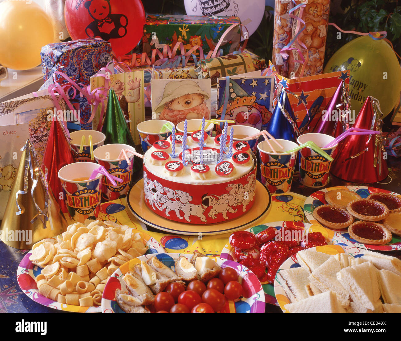 Childrens Birthday Party Food Spread Berkshire England