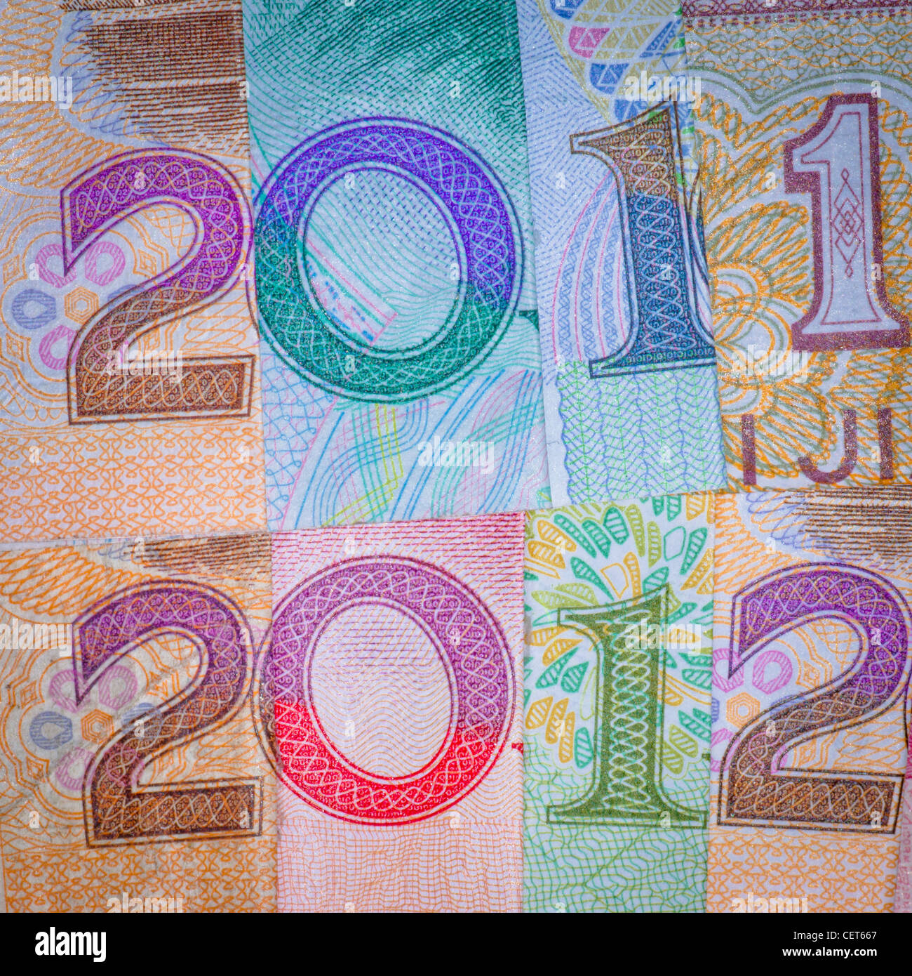 Chinese Bank Note Money RMB New Year 2012 Financial Background Stock