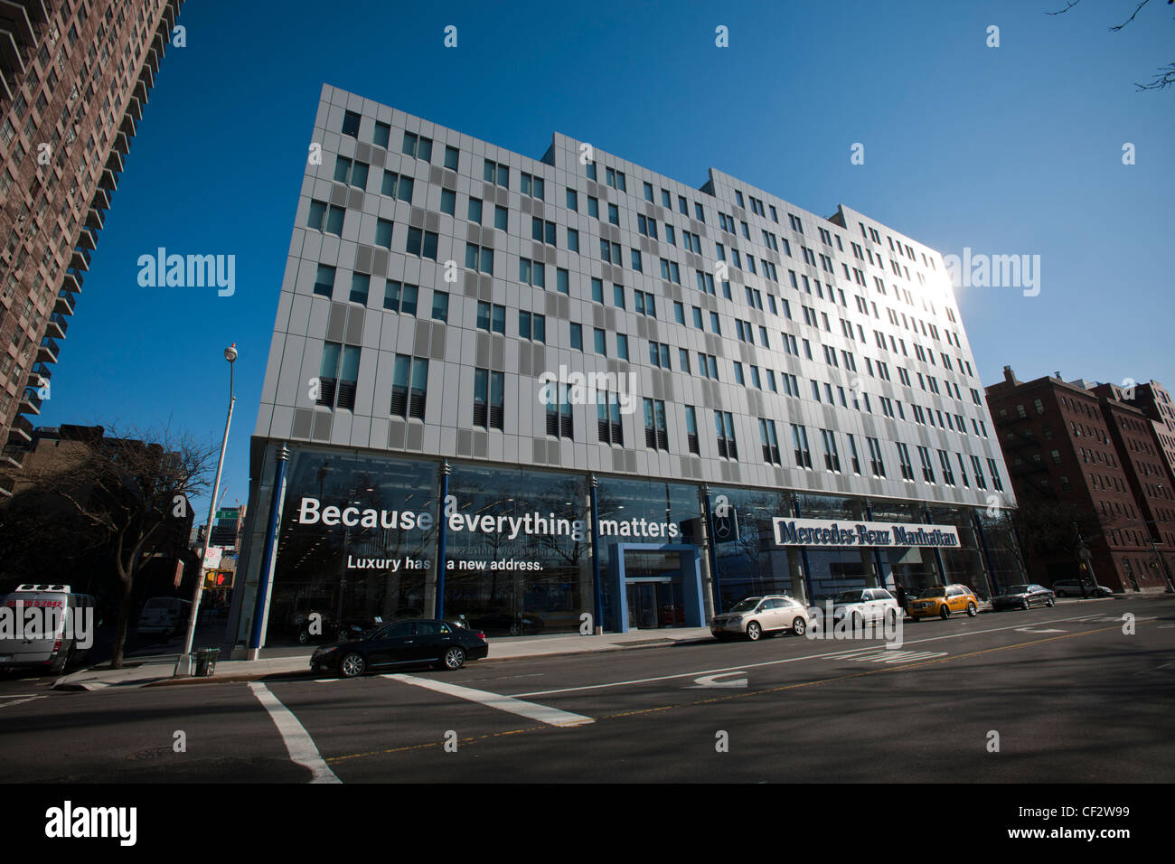 The flagship mercedes benz manhattan dealership is seen in for Mercedes benz dealer northern blvd