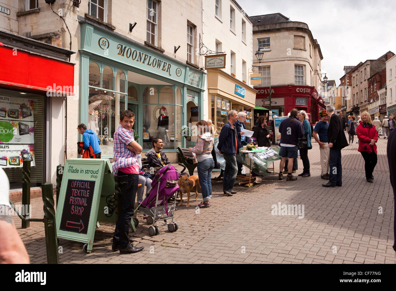 Uk Gloucestershire Stroud High Street On Saturday