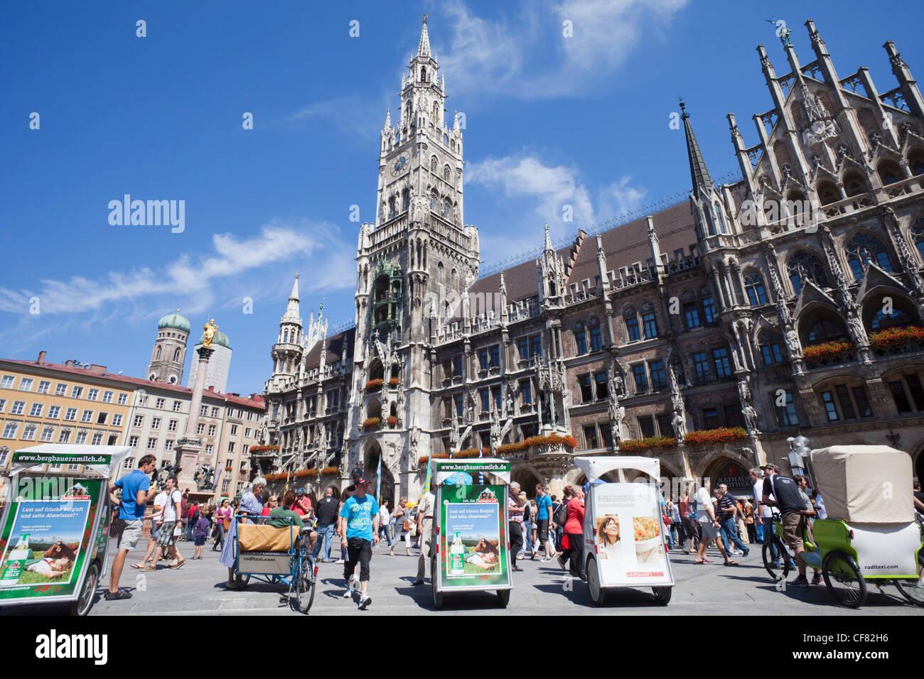 Europe Germany Bavaria Munich Munchen Marienplatz