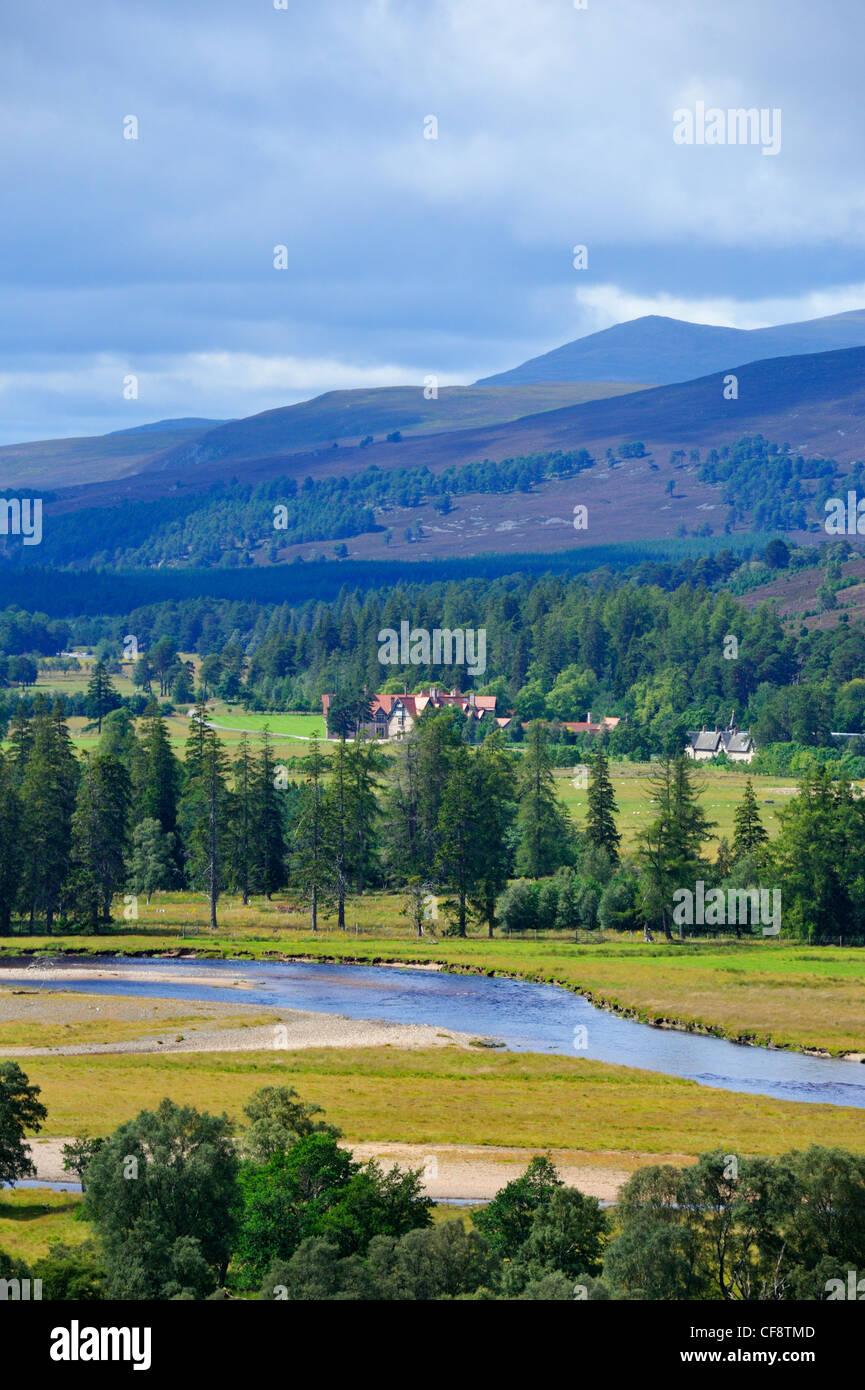 Mar Lodge, Forest of Mar, Braemar, Royal Deeside, Aberdeenshire, Scotland, United Kingdom, Europe. Stock Photo