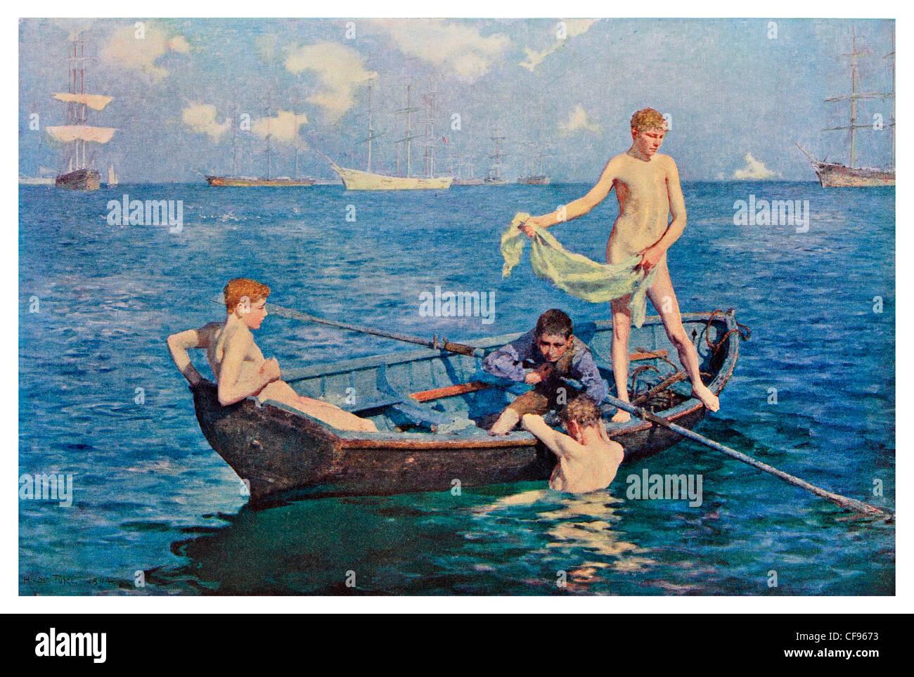 blue sailing naked