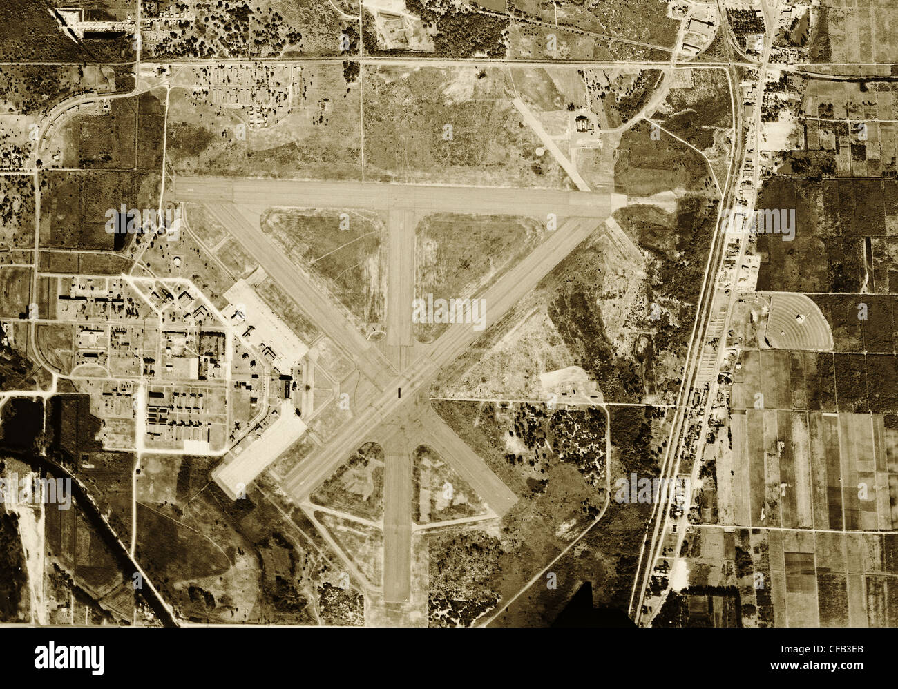 Historical Aerial Photograph Fort Lauderdale Hollywood