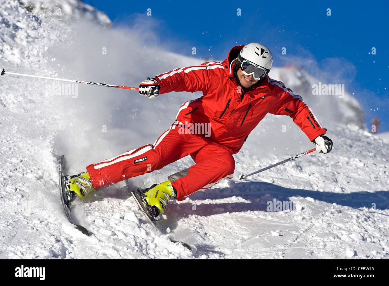 Carving skiing extreme man ski winter sports fun